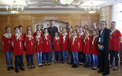"""Хор """"Евмолпея"""" изпълни народни песни на кмета на Екатеринбург"""